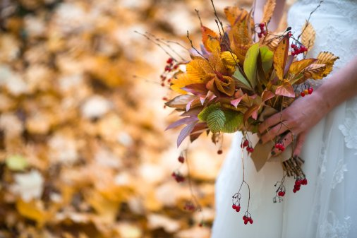 Mariage automne forêt oise