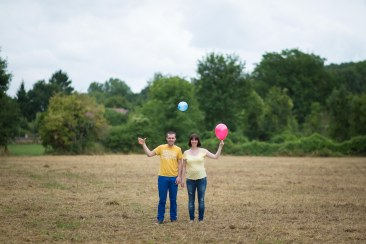 Grossesse Beauvais champs ballon