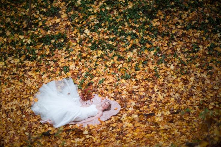 Mariage automne feuilles Beauvais