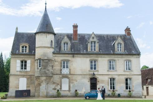 Fiat 500 Mariage chateau Etournelles oise
